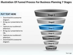 Sample Business PowerPoint Presentation For Planning 7 Stages Ppt Template