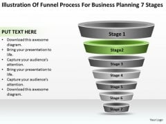 Sample Business PowerPoint Presentation For Planning 7 Stages Templates