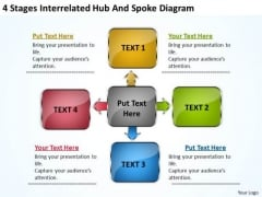 Sample Business PowerPoint Presentation Interrelated Hub And Spoke Diagram Slides