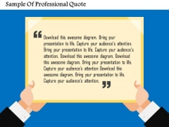 Sample Of Professional Quote Presentation Template