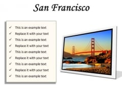 San Francisco Beach PowerPoint Presentation Slides F