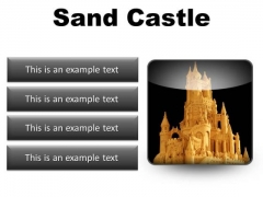 Sand Castle Beauty PowerPoint Presentation Slides S