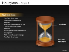 Sand Falling Out Of An Hourglass Editable PowerPoint Slides