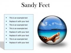 Sandy Feet Nature PowerPoint Presentation Slides C