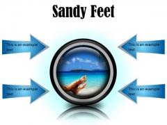 Sandy Feet Nature PowerPoint Presentation Slides Cc