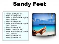 Sandy Feet Nature PowerPoint Presentation Slides S