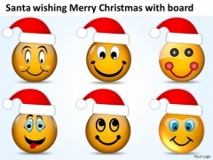 Santa Wishing Merry Christmas Laughing Smileys PowerPoint Templates