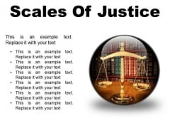 Scales Of Justice Law PowerPoint Presentation Slides C