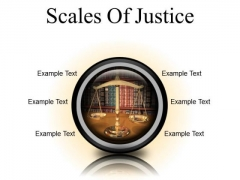 Scales Of Justice Law PowerPoint Presentation Slides Cc