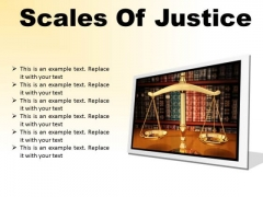 Scales Of Justice Law PowerPoint Presentation Slides F