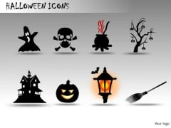 Scary Halloween Icons PowerPoint Image Clipart Slides