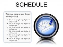 Schedule Business PowerPoint Presentation Slides Cc