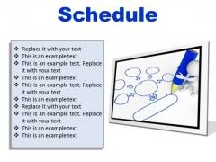 Schedule Business PowerPoint Presentation Slides F