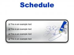 Schedule Business PowerPoint Presentation Slides R