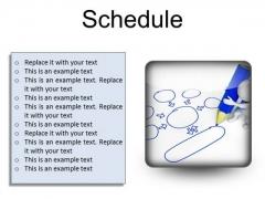Schedule Business PowerPoint Presentation Slides S