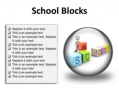 School Blocks Education PowerPoint Presentation Slides C