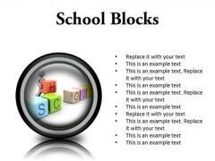 School Blocks Education PowerPoint Presentation Slides Cc
