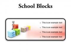 School Blocks Education PowerPoint Presentation Slides R