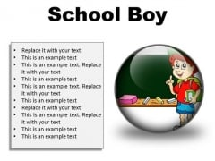 School Boy Children PowerPoint Presentation Slides C