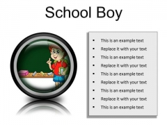 School Boy Children PowerPoint Presentation Slides Cc