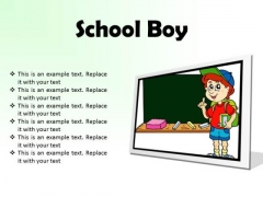 School Boy Children PowerPoint Presentation Slides F