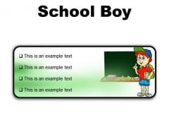 School Boy Children PowerPoint Presentation Slides R