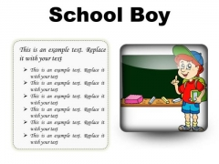 School Boy Children PowerPoint Presentation Slides S