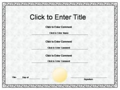 School Recognition Certificate PowerPoint Templates