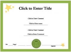 School Success Certificate PowerPoint Templates