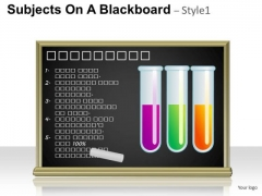 Science Subjects On A Blackboard 1 PowerPoint Slides And Ppt Diagram Templates