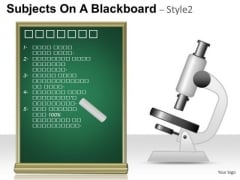 Science Subjects On A Blackboard 2 PowerPoint Slides And Ppt Diagram Templates