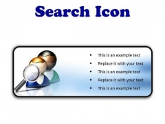 Search Icon Business PowerPoint Presentation Slides R