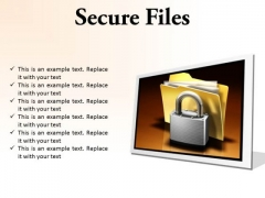 Secure Files Security PowerPoint Presentation Slides F
