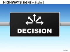 Security Highways Signs 2 PowerPoint Slides And Ppt Diagram Templates