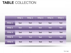 Security Table Collection PowerPoint Slides And Ppt Diagram Templates