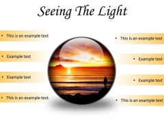 Seeing The Light Nature PowerPoint Presentation Slides C