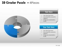Segment 3d Circular Puzzle 4 Pieces PowerPoint Slides And Ppt Diagram Templates