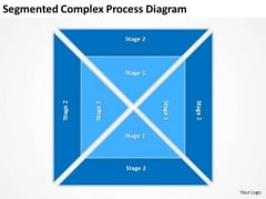 Segmented Complex Process Diagram Ppt Business Plan Structure PowerPoint Templates