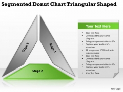 Segmented Donut Chart Triangular Shaped Business Plan Program PowerPoint Templates