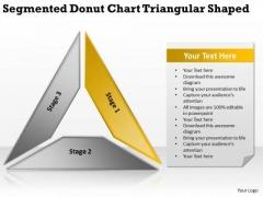 Segmented Donut Chart Triangular Shaped Ppt Business Plan PowerPoint Templates