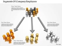 Segments Of Company Employees PowerPoint Templates