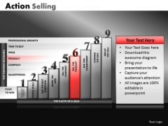 Selling Process PowerPoint Slides Action Selling Ppt