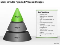 Semi Circular Pyramid Process 3 Stages Ppt Business Development Plans PowerPoint Slides