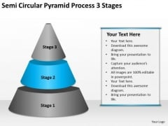 Semi Circular Pyramid Process 3 Stages Ppt Business Plan Proposal PowerPoint Slides
