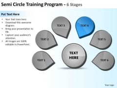 Semicircle Training Program 6 Stages Ppt Circular Process Diagram PowerPoint Slide