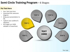 Semicircle Training Program 6 Stages Ppt Circular Process Diagram PowerPoint Slides