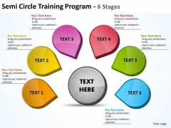 Semicircle Training Program 6s PowerPoint Slides Presentation Diagrams Templates
