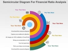 Semicircular Diagram For Financial Ratio Analysis PowerPoint Templates