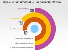 Semicircular Infographic For Financial Review PowerPoint Templates