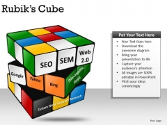 Seo Sem Puzzle Rubiks Cube PowerPoint Slides And Ppt Diagram Templates